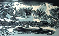 Herbert Waters, wood engraving 2000
