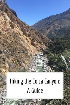 Hiking the Colca Canyon A Guide Pinterest