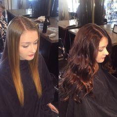 Beautiful color by @meagansublimehair #beautiful #haircolor #bigchange #pretty #hair #lighttodark #love