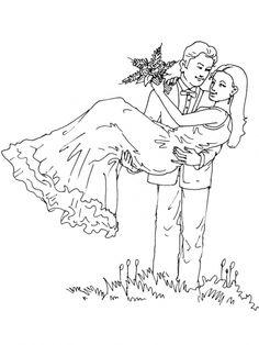 braut und bräutigam ausmalbild | ausmalbilder hochzeit