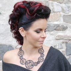 Dreamcatcher+Necklace+Black+Silicone+Jewelry