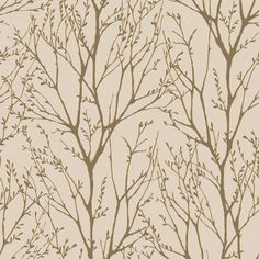 I Love Wallpaper™ Shimmer Tree Mushroom / Gold (ILW980035)