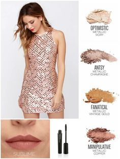 Younique pressed shadows colors quad palette epic mascara prom homecoming dance looks