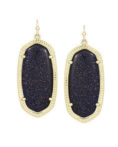 Elle Earrings in Blue Goldstone - Kendra Scott Jewelry.  Happy Birthday to Me :)