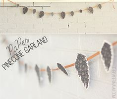 Paper Pinecone Garland by The Paper Mama, via Flickr
