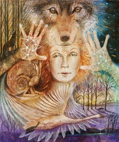 Brigid Wolf Maiden --- From frozen winter wilds come through; To wake from sleep all life anew. Wolf Spirit-path finder Brigid Goddess - fire bringer, Come light our ways, Come warm our days, The Imbolc spark of life is come! Blessings brought by Brigid's swan! (by Wendy Andrew)
