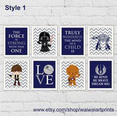 Star Wars Boy Nursery Decor. Han Solo ATAT by waiwaiartprints