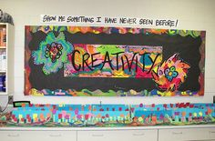 september art bulletin board-before projects are finished to display