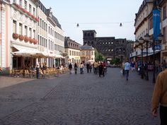 Trier, Germany, hadn't yet been bombed when Paul and Heidi arrived after traveling along the Mosel River. The Porta Nigra is in the distance.