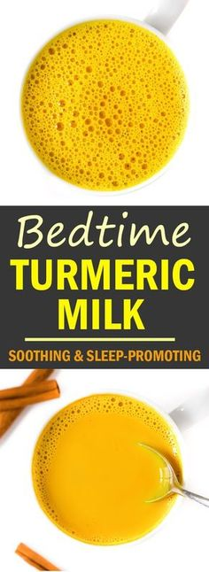 Amazing Ayurvedic benefits and actually h… Soothing Bedtime Golden Turmeric Milk! Amazing Ayurvedic benefits and actually helps promote better sleep – we LOVE it in the evenings for a better night's rest! Best Nutrition Food, Health And Nutrition, Health Tips, Nutrition Products, Nutrition Data, Nutrition Guide, Health Benefits, Healthy Drinks, Vegetarian