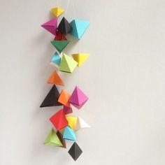 Une guirlande origami - Marie Claire Idées