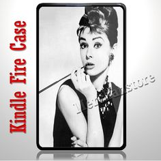 Cute Audrey Hepburn Kindle Fire Case | Merchanstore - Accessories on ArtFire