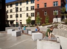 Sunny day at YWCA Family Village Issaquah.  Photo credit: William Wright.