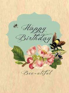 Birthday Bee-utiful! Greeting Cards: Greeting: Happy Birthday Bee-utiful! Blank Inside, Package of 6