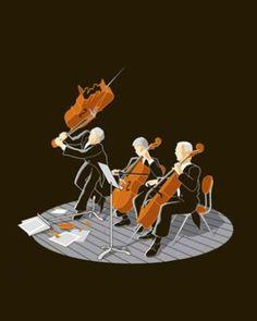 Smashing a cello