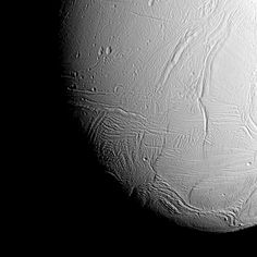 The south polar region of Saturn's active, icy moon Enceladus awaits NASA's Cassini spacecraft in this view, acquired on approach to the mission's deepest-ever dive through the moon's plume of icy spray.