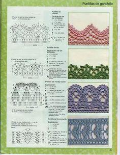 Puntillas crochet patrones