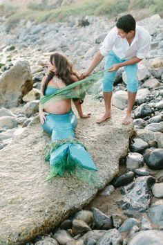 family, Ariel and Eric, mermaid, pregnant, photoshoot