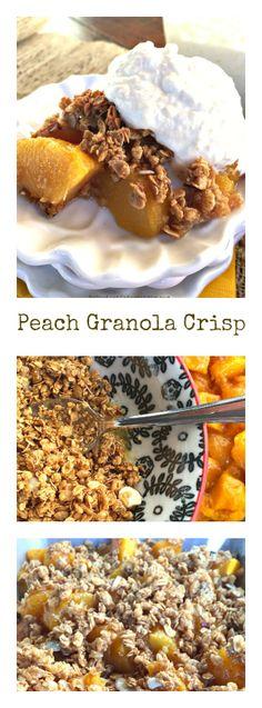 Peach Granola Crisp at ReluctantEntertainer.com