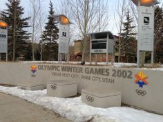 Iconic Park City Locations: Olympic Welcome Center. Where the whole town waited for the Olympic torch to arrive in Park City!