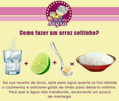Dicas de arroz soltinho Food N, Good Food, Food And Drink, Yummy Food, English Food, Food Illustrations, Baking Tips, Candy Recipes, Easy Cooking