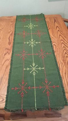Swedish Weaving Holiday Table Runner