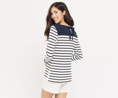 Oasis, Stripe Button Sweater (Love the details!)