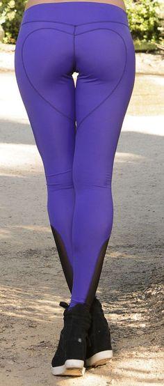 Heart Butt Legging in Purple via  Nina.B.Roze - Feminine Yoga Apparel and Activewear