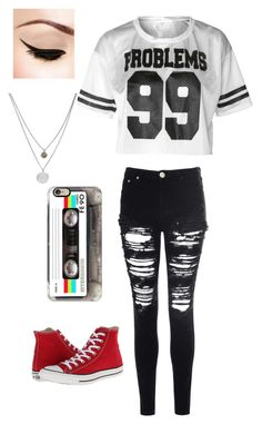 """Untitled #1463"" by if-i-were-famous1 ❤ liked on Polyvore featuring Casetify, Glamorous, Converse and Kenneth Cole"