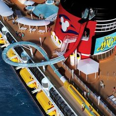 Aquadunk on the Disney Cruise Line ship!! Laura.thiesfeld@themagicforless.com