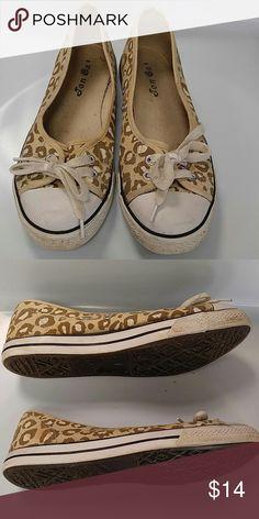 Sz 7 Converse-like slip ons Re-posh, leopard print. Worn, but lots of life left Jen Oz  Shoes Sneakers