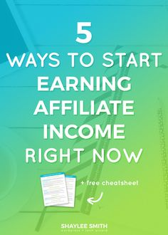 The truth is affiliate marketing is hard work and it won't happen overnight. To be successful with affiliate marketing you need a clear niche, consistent blog schedule with valuable content, and strategic marketing plan. That shouldn't deter you from going for it though. In this post I'm going to share with you five different ways you can get started making passive income through affiliate marketing today!