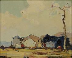 """""""Fall Landscape,"""" Chauncey F. Ryder, oil on board, 8 1/2 x 10 1/2"""", private collection."""