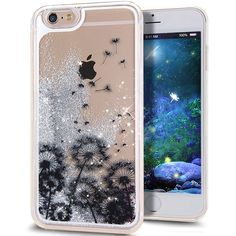 iPhone 6S Case,NSSTAR iPhone 6S Liquid Case,Case for iPhone 6S,Creative Design Flowing Liquid Floating Luxury Bling Glitter Sparkle Stars Hard Case Apple iPhone 6S (2015) & iPhone 6 (2014),A27