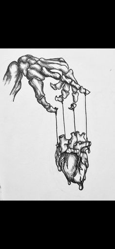 I think the image of a puppet master in art is very overused and doesn't have a very distinct meaning. Pencil Art Drawings, Art Drawings Sketches, Creepy Drawings, Drawings With Meaning, Medical Drawings, Heart Art, Body Art Tattoos, Life Tattoos, Rock Art
