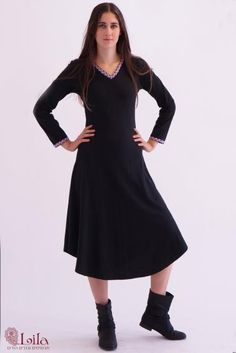 Beautifully designed dress with embroidary. sizes S-XXXL. Many colors and prints. Visit web site: http://www.lilain.co.il/