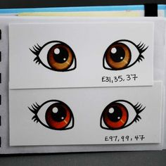 Edwards honey colour eye tutorial using Copic Markers