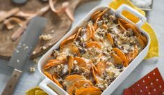 Super-Food Süßkartoffel: besonders lecker als Auflauf mit Hackfleisch von MAGGI. Genieße die leckere Knolle mit deiner Familie.