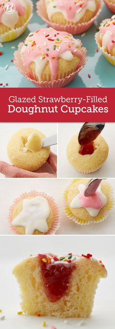If jelly-filled doughnuts are your weakness, these adorable doughnut cupcakes (made with our Krispy Kreme cake mix) will knock your socks off. A perfect birthday treat for your favorite doughnut lover!