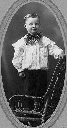 A sweetly dressed little boy from Alberta, Canada, 1900.