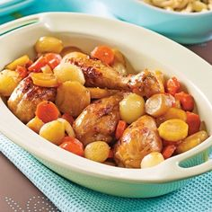 Casserole de pilons de poulet aux cinq épices et à l'érable - Soupers de semaine - Recettes 5-15 - Recettes express 5/15 - Pratico Pratique