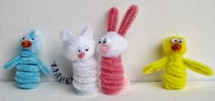 Pipe cleaner Easter Finger Puppets