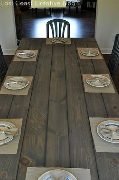 make your own farmhouse table the easy way diy how to painted furniture rustic furniture woodworking projects Modern Meets Rustic Farmhouse Table Rustic Furniture, Painted Furniture, Diy Furniture, Modern Furniture, Furniture Design, Furniture Cleaning, Furniture Removal, Plywood Furniture, Chair Design