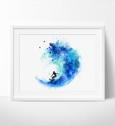 Surf Watercolor Art, Surf Print, Watercolor Painting, Watercolor Art Poster, Surf Poster, Decor Wall Art, Artwork, Art, Print(157)