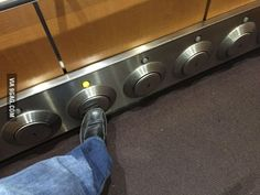 The elevator in my building has foot buttons.