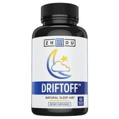 DRIFTOFF Natural Sleep Aid with Valerian Root & Melatonin - Sleep Well, Wake Refreshed - Non Habit Forming Sleep Supplement - Also Includes Chamomile, Tryptophan, Lemon Balm & More - 60 Veggie Caps Natural Remedies For Insomnia, Insomnia Remedies, Natural Cures, Natural Sleeping Pills, Natural Sleep Aids, Nighttime Sleep Aid, Sleep Supplements, Good Sleep, Sleep Well