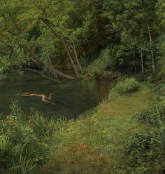 vasilyt:  Swimmer, oil on panel, 2005 Scott Prior