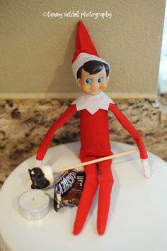 Lcl will be having smores the week we get back from break.  elf on a shelf making s'mores.
