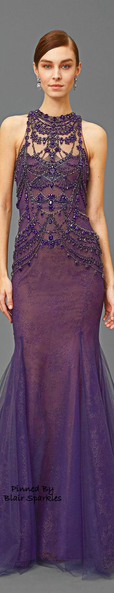 Purple Holiday Gala / karen cox. Pre Fall 2016 Marchesa