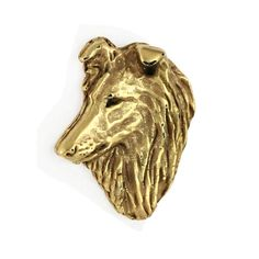 Pins: - Perfect gift remarkable precision of execution - masterfully crafted by Best Polish Artist - around 2 cm x cm Material: - Zn Al base - covered with a thick layer of gold Dog Pin, Shetland Sheepdog, Sheltie, Lion Sculpture, Statue, Dogs, Artist, Gifts, Etsy